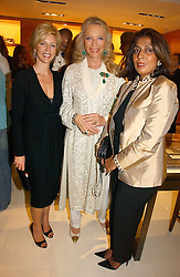 Left to right, REBECCA CARCELLE, HRH PRINCESS MICHAEL OF KENT and the PRINCESS OF MORVI at a party to celebrate the publication of 'Made for Maharajas' by Dr Amin Jaffer hosted by Louis Vuitton at their store on Sloane Street, London on 10th October 2006.<br /><br />NON EXCLUSIVE - WORLD RIGHTS