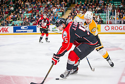 Action from Game 2 of the 2016 MasterCard Memorial Cup between the Brandon Wheat Kings and Rouyn-Noranda Huskies in Red Deer, AB on Saturday May 21, 2016. Photo by Rob Wallator/CHL Images