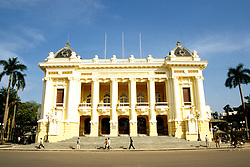 Southeast Asian, Vietnam, Hanoi, Opera House, photo# vietna101.Photo Copyright: Lee Foster, www.fostertravel.com, 510-549-2202, lee@fostertravel.com