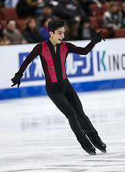 February 7, 2019 - Los Angeles, California, U.S - Donovan Carrillo of Mexico competes in the Men Short Program during the ISU Four Continents Figure Skating Championship at the Honda Center in Anaheim, California on February 7, 2019. (Credit Image: © Ringo Chiu/ZUMA Wire)