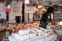 Canoli seller on the Lexington Avenue fair