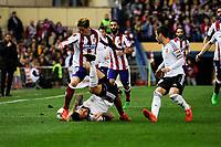 Atletico de Madrid´s Fernando Torres and Valencia CF´s Nicolas Otamendi during 2014-15 La Liga match between Atletico de Madrid and Valencia CF at Vicente Calderon stadium in Madrid, Spain. March 08, 2015. (ALTERPHOTOS/Luis Fernandez)