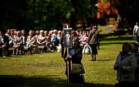 Studzieniczna,  24.05.2015, woj podlaskie. Uroczystosci odpustowe Zeslania Ducha Swietego w Sanktuarium Matki Bozej w Studzienicznej . Podczas pielgrzymki do Polski w czerwcu 1999 roku modlil sie tutaj Papiez Jan Pawel II fot Michal Kosc / AGENCJA WSCHOD