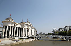 A general view of The archeological museum in Skopje