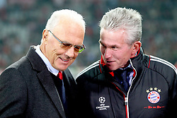 02.11.2011, Allianz Arena, Muenchen, GER, UEFA CL, FC Bayern Muenchen vs. SSC Neapel, im Bild Franz Beckenbauer (Bayern) mit Jupp Heynckes (Trainer Bayern)  // during the CL match  FC Bayern Muenchen (GER)  vs.  SSC Neapel  (ITA) Gruppe A, on 2011/11/02, Allianz Arena, Munich, Germany, EXPA Pictures © 2011, PhotoCredit: EXPA/ nph/  Straubmeier       ****** out of GER / CRO  / BEL ******