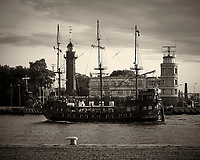 Pirate Ferry. Lighthouse, Port Office. Walkabout in Westerplatte Memorial Park. Image taken with a Leica X2 camera and 24 mm lens.