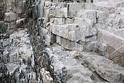 Fractured rock in Hornsund, Svalbard.