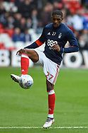 Nottingham Forest defender Tendayi Darikwa (27) during the EFL Sky Bet Championship match between Nottingham Forest and Derby County at the City Ground, Nottingham, England on 11 March 2018. Picture by Jon Hobley.