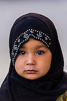 Muslim girl, Old Leh, Ladakh, Jammu and Kashmir State, India.