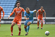 Coventry City midfielder Liam Kelly (6) chases down a loose ball during the EFL Sky Bet League 1 match between Coventry City and Shrewsbury Town at the Ricoh Arena, Coventry, England on 28 April 2019.