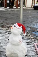 Snowman in Glasthule Dublin in the snow November 2010