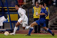 Photo: Richard Lane.<br />Croatia v England. UEFA European Championships 2008 Qualifying. 11/10/2006. <br />England's Kieran Richardson attacks.