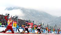 Skiskytin<br /> IBU World Cup<br /> Ruhpolding Tyskland<br /> 13.01.2013<br /> Foto: Gepa/Digitalsport<br /> NORWAY ONLY<br /> <br /> IBU Weltcup, 12,5km Massenstart der Damen. Bild zeigt Tora Berger (NOR), Miriam Goessner, Andrea Henkel (GER) und Darya Domracheva (BLR).