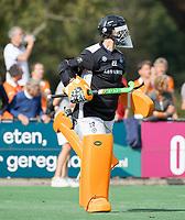 BLOEMENDAAL  -  keeper Sam van der Ven (HGC) tijdens de hoofdklasse hockeywedstrijd mannen, Bloemendaal-HGC (2-1) . COPYRIGHT KOEN SUYK
