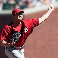 19 April 2009: Arizona Diamondbacks' Scott Schoeneweis pitches against the San Francisco Giants during the San Francisco Giants' 2-0 win  against the Arizona Diamondbacks at AT&T Park in San Francisco, CA.