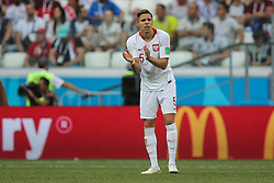June 28, 2018 - Wolgograd, Russia - Jan Bednarek of Poland celebrates after scoring his team's first goal during the 2018 FIFA World Cup Russia group H match between Japan and Poland at Volgograd Arena on June 28, 2018 in Volgograd, Russia. (Credit Image: © Foto Olimpik/NurPhoto via ZUMA Press)