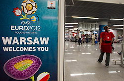 Airport in Warsaw a day before the beginning of Euro 2012 Poland-Ukraine, on June 7, 2012 in Airport Frederic Chopin, Warsaw, Poland. (Photo by Vid Ponikvar / Sportida.com)