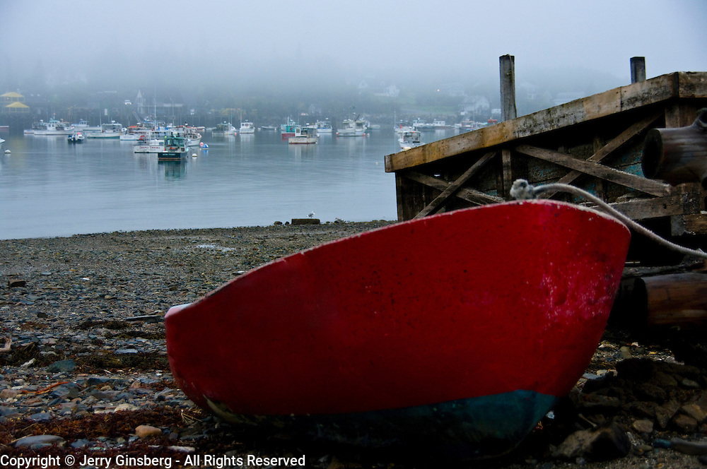 Fishing boats in Bass Harbor Maine.