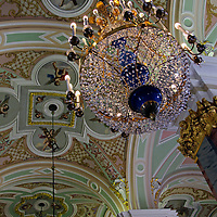 Europe, Russia, St. Petersburg. The Peter and Paul Fortress Cathedral interior.