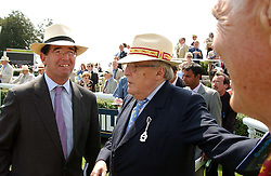 Left to right, LORD GRIMTHORPE and the DUKE OF RICHMOND & GORDON  at the 4th day of the annual Glorious Goodwood horseracing festival held at Goodwood Racecourse, West Sussex on 30th July 2004.