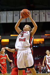 31 December 2007: Tamara Butler goes up strong for a shot.The Huskies of Northern Illinois University were leashed up by the Redbirds of Illinois State University 78-54 on Doug Collins Court in Redbird Arena in Normal Illinois.