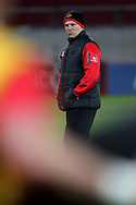 Newport Gwent Dragons coach Kingsley Jones looks on.<br /> Guinness Pro12 rugby match, Munster v Newport Gwent Dragons at Thomond Park in Limerick , Ireland on Saturday 5th March 2016.<br /> pic by  John Halas, Andrew Orchard sports photography.