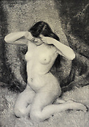 les Larmes dans les Yeux [Tears in the Eyes] by Schutzemberger 1908 from Le Nu au Salon 1908 A collection of Nude photography published in Paris in 1908 by Société nationale des beaux-arts (France). et Société des artistes français. Catalogs of nudes exhibited at the official Paris Salons. Some years have two parts: The Salon held at the Champs Élysées sponsored by the Société des artistes français and the Salon held at the Champ de Mars sponsored by the Société nationale des beaux-arts