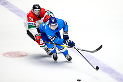 Istvan Bartalis of Hungary and Nikita Mikhailis of Kazakhstan during ice hockey match between Kazakhstan and Hungary at IIHF World Championship DIV. I Group A Kazakhstan 2019, on May 5, 2019 in Barys Arena, Nur-Sultan, Kazakhstan. Photo by Matic Klansek Velej / Sportida