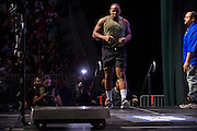 LAS VEGAS, NV - JULY 8:  Daniel Cormier walks to the scale the UFC 200 weigh-ins at T-Mobile Arena on July 8, 2016 in Las Vegas, Nevada. (Photo by Cooper Neill/Zuffa LLC/Zuffa LLC via Getty Images) *** Local Caption *** Daniel Cormier