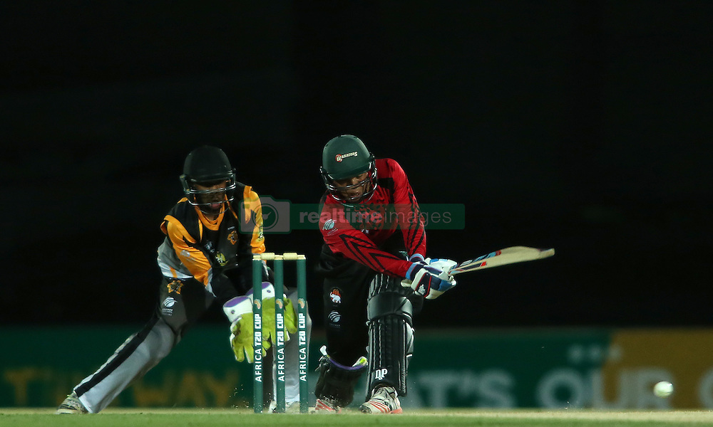 Clyde Fortuin of Eastern Province sweeps a delivery through the leg side during the Africa T20 cup pool D match between Boland and Eastern Province held at the Boland Park cricket ground in Paarl on the 24th September 2016.<br /> <br /> Photo by: Shaun Roy/ RealTime Images