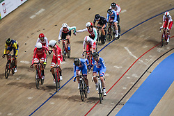 March 2, 2019 - Pruszkow, Poland - Lucie Hochmann, Katerina Kohoutkova (CZE), Amalie Dideriksen, Julie Leth (DEN) compete in the Women's Madison on day four of the UCI Track Cycling World Championships held in the BGZ BNP Paribas Velodrome Arena on March 02 2019 in Pruszkow, Poland. (Credit Image: © Foto Olimpik/NurPhoto via ZUMA Press)