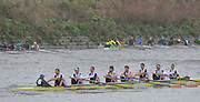 Putney. London,  Leander Club at the start of the 2015  Head of the River Race. Championship Course Putney to Mortlake.  ENGLAND. <br /> <br /> Sunday   29/03/2015<br /> <br /> [Mandatory Credit; Intersport-images] .   Empacher.