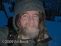 Ed Book self portrait at Paradise on Mount Rainier in the winter