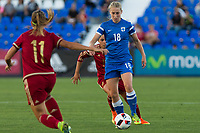 Finland's Linda Sallstrom and Spain's Amanda Sampedro during the match of  European Women's Championship 2017 at Leganes, between Spain and Finland. September 20, 2016. (ALTERPHOTOS/Rodrigo Jimenez)