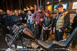Friday night at the One Show motorcycle show in Portland, OR. February 12, 2016. ©2016 Michael Lichter