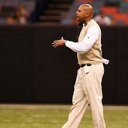 2008 December 13: South Plaquemines head coach Cyril Crutchfield during the Class 1A LHSAA State Championship game, a 62-16 victory by the South Plaquemines Hurricanes over Christian Life Academy at the Louisiana Superdome in New Orleans, LA (photo by Derick Hingle)