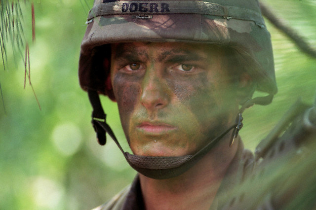 ca. 1994, Fayetteville, North Carolina, USA --- Soldier in the 82nd Airborne Division --- Image by © Leif Skoogfors/CORBIS