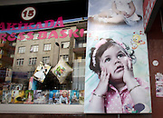 A shop window of a store catering to children's photography in Istanbul.
