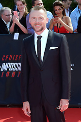 Simon Pegg attending the Global Premiere of Mission: Impossible - Fallout at Palais de Chaillot in Paris, France on July 12, 2018. Photo by Aurore Marechal/ABACAPRESS.COM