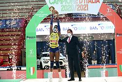 PAOLA EGONU and ANTONIO SANTAMARIA <br /> IGOR GORGONZOLA NOVARA - IMOCO VOLLEY CONEGLIANOPALLAVOLO CAMPIONATO ITALIANO VOLLEY  SERIE A1-F 2020-2021FINALE PLAYOFF SCUDETTO GARA 2NOVARA 20-04-2021FOTO FILIPPO RUBIN / LVF