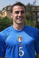 Coverciano 27/5/2004 Ritiro della nazionale italiana in vista degli Europei 2004 in Portogallo. <br />Fabio Cannavaro, Italy, Defender.<br />Foto Andrea Staccioli Graffiti