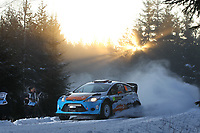 MOTORSPORT - WORLD RALLY CHAMPIONSHIP 2012 - RALLY SWEDEN / RALLYE DE SUEDE - 08 TO 12/02/2012 - KARLSTAD (SWE) - PHOTO : FRANCOIS BAUDIN /  DPPI - EYVIND BRYNILDSEN CATO MENKERUD FORD FIESTA WRC ACTION