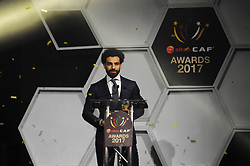 ACCRA, Jan. 5, 2018  Mohamed Salah of Egypt attends the Confederation of African Football awards ceremony in Accra, Ghana, Jan. 4, 2018. Salah received the African Player of the Year award. (Credit Image: © Shi Song/Xinhua via ZUMA Wire)