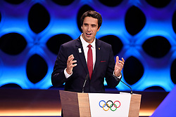 Handout photo - Paris 2024 Bid Co-Chair and 3-time Olympic Champion Tony Estanguet during the Olympic and Paralympic Games 2024 host city election, Lima, Peru, September 13, 2017. Photo by Paris 2024/ABACAPRESS.COM