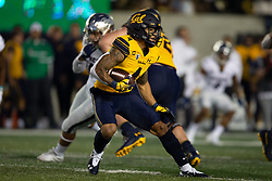 California wide receiver Nikko Remigio (4) carries the ball on an end around against Nevada during the first quarter of an NCAA college football game, Saturday, Sept. 4, 2021, in Berkeley, Calif. (AP Photo/D. Ross Cameron)