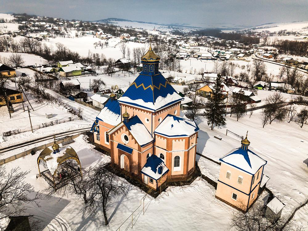 Church in the village of Bobovtsi in Ukraine.