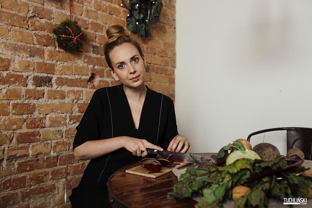 Warszawa, Polska. 05.11.2019<br /> Marta Dymek - blogerka, autorka kulinarnego bloga Jadłonomia i książki pod tym samym tytułem.<br /> Fot. Adam Tuchlinski dla Forbes<br /> Make up - Dominika Kuligowska