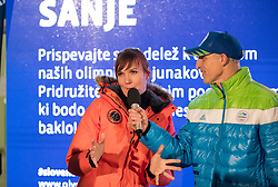 Petra Majdic at Lighting and Handover Ceremonies of the OKS Olympic Flame for PyeongChang 2018, on January 9, 2018 in BTC City, Ljubljana, Slovenia. Photo by Matic Klansek Velej / Sportida