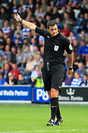 Match referee Andrew Madley during the EFL Sky Bet Championship match between Queens Park Rangers and Burton Albion at the Loftus Road Stadium, London, England on 23 September 2017. Photo by Richard Holmes.
