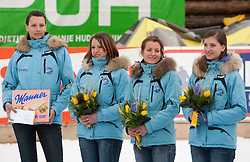 Hosteses during Flying Hill Individual at 2nd day of FIS Ski Jumping World Cup Finals Planica 2011, on March 18, 2011, Planica, Slovenia. (Photo by Vid Ponikvar / Sportida)